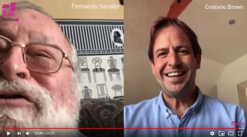 [vídeo] Fernando Savater y Cristiano Brown charlan sobre la actualidad política